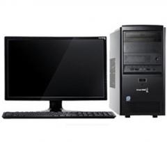 长城 俊杰BQ376   (G5400/4G/120G固态/无光驱/19.5显示器)台式计算机